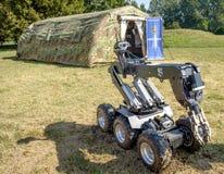 Феррара, Италия 16-ое сентября 2016 - блок u робота обезвреживания неразорвавшихся бомб Стоковое Изображение