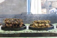 Фестиваль барбекю с сериями мяса стоковые фотографии rf