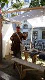 Фестиваль времен и эпох 1 ратник стоковые фото