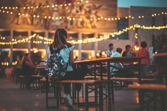 Фестиваль еды в центре Тираны Стоковые Изображения