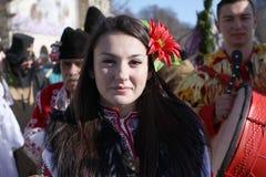 Фестиваль игр Surova Masquerade в Pernik, Болгарии Стоковая Фотография