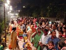Фестиваль индейца Ganesh Visarjan стоковая фотография