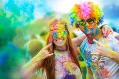 Фестиваль краски Holi Стоковая Фотография RF