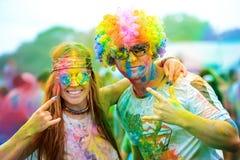 Фестиваль краски Holi Стоковое Изображение