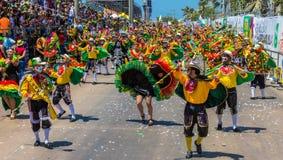 Фестиваль масленицы парада Барранкильи Atlantico Колумбии стоковые изображения rf