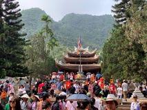 Фестиваль пагоды Huong Мой герцог, Ханой, Вьетнам 2-ое марта 2019 стоковое изображение