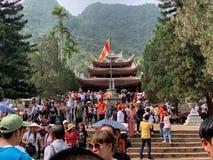 Фестиваль пагоды Huong Мой герцог, Ханой, Вьетнам 2-ое марта 2019 стоковые фото
