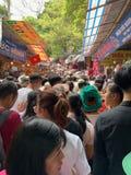 Фестиваль пагоды Huong Мой герцог, Ханой, Вьетнам 2-ое марта 2019 стоковая фотография rf