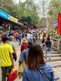 Фестиваль пагоды Huong Мой герцог, Ханой, Вьетнам 2-ое марта 2019 стоковые фотографии rf