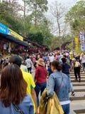 Фестиваль пагоды Huong Мой герцог, Ханой, Вьетнам 2-ое марта 2019 стоковое изображение rf