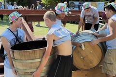 Фестиваль сбора толкотни вина в Carlton Орегоне Стоковая Фотография
