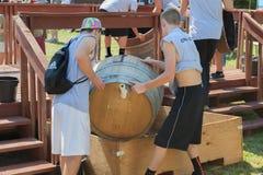 Фестиваль сбора толкотни вина в Carlton Орегоне Стоковое фото RF