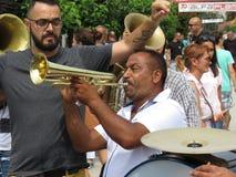 Фестиваль 2018 трубы Guca стоковые фотографии rf