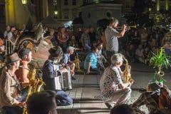 Фестиваль уличного театра в Кракове 2018 стоковое фото rf