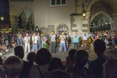 Фестиваль уличного театра в Кракове 2018 стоковые фото