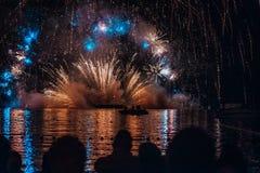Фестиваль фейерверков стоковое фото rf