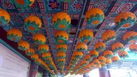 Фестиваль фонарика лотоса в виске Samgwangsa, Пусане, Южной Корее, Азии акции видеоматериалы