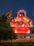 Фестиваль фонарика цветка традиционного китайского весной Стоковое Изображение