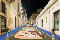 Фестиваль цветка Noto в Сицилии стоковое изображение rf