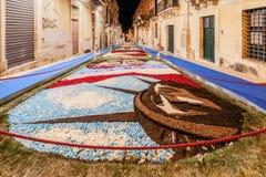 Фестиваль цветка Noto в Сицилии стоковая фотография