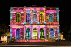 Фестиваль Шартр света фасада здания стоковое изображение