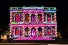 Фестиваль Шартр света фасада здания стоковое изображение rf