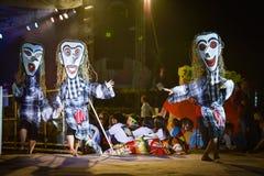 Фестиваль international маски выставки танца Лаоса стоковое изображение rf