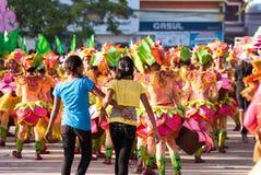 Фестиваль Pinta Flores, город San Carlos, житель Запада Negros Стоковое фото RF