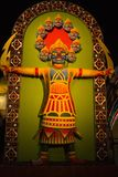 Фестиваль puja Durga в calcutta в Индии-ravana Стоковые Фотографии RF