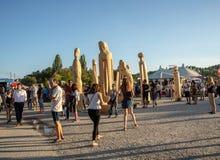 Фестиваль Tollwood в Мюнхене Стоковая Фотография