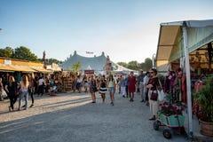 Фестиваль Tollwood в Мюнхене Стоковые Фотографии RF