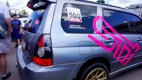 Фестиваль автомобиля в городе Тулы Российская Федерация Лето 2015 видеоматериал