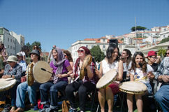Фестиваль 100 барабанчиков на день работников Стоковые Изображения RF