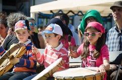 Фестиваль 100 барабанчиков на день работников Стоковое Изображение RF