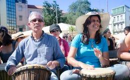 Фестиваль 100 барабанчиков на день работников Стоковая Фотография RF