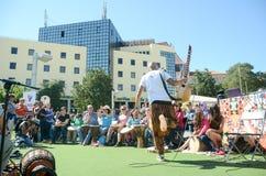 Фестиваль 100 барабанчиков на день работников Стоковые Фотографии RF