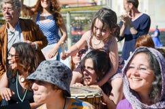 Фестиваль 100 барабанчиков на день работников Стоковые Фото
