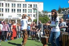 Фестиваль 100 барабанчиков на день работников Стоковое фото RF