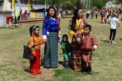 Фестиваль Бутана стоковая фотография rf