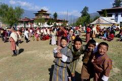 Фестиваль Бутана стоковые фотографии rf