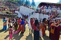 Фестиваль Бутана стоковые изображения rf