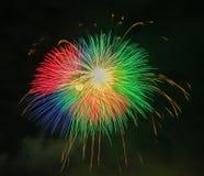 Фестиваль 2017 лета Японии фейерверков Стоковые Фото