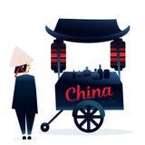 Фестиваль еды тележки Китая справедливый Стоковая Фотография
