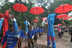Фестиваль зонтика в Индонезии Стоковое Фото