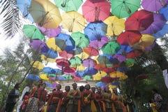 Фестиваль зонтика в Индонезии Стоковые Изображения RF