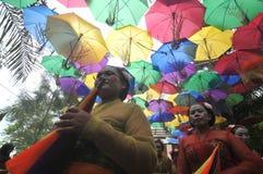 Фестиваль зонтика в Индонезии Стоковое Изображение