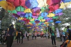 Фестиваль зонтика в Индонезии Стоковые Изображения