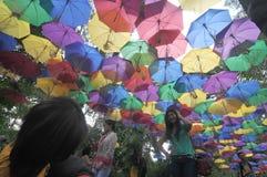 Фестиваль зонтика в Индонезии Стоковое фото RF