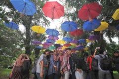 Фестиваль зонтика в Индонезии Стоковые Фотографии RF