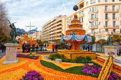 Фестиваль лимона (Fete du Цитрон) в Menton, Франции Стоковое Изображение RF